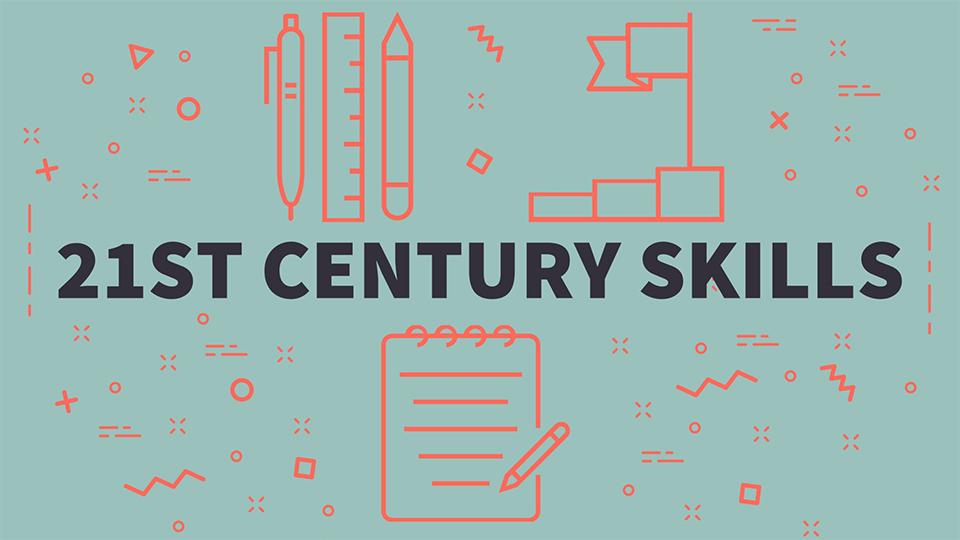uitgeschreven het woord: 21e eeuwse vaardigheden
