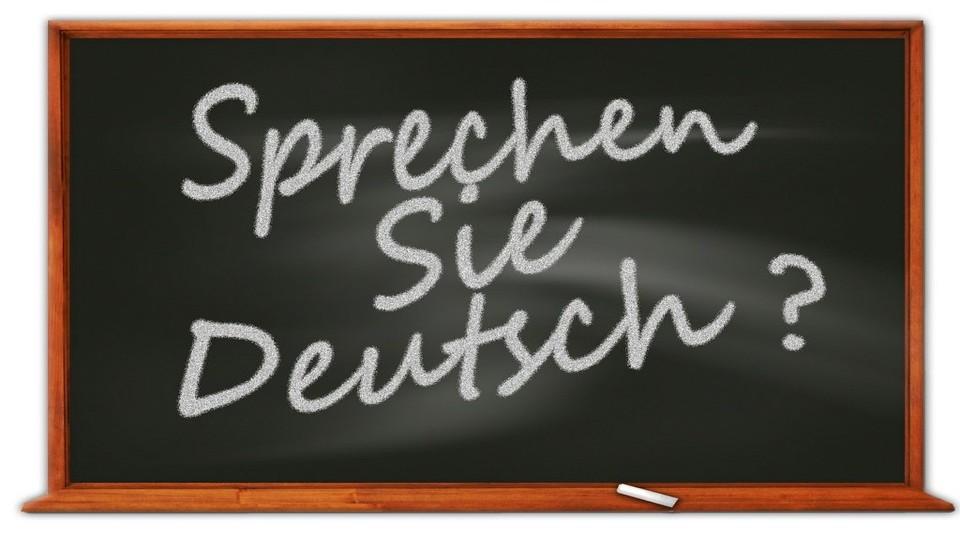 Schoolbord Sprechen Sie Deutsch