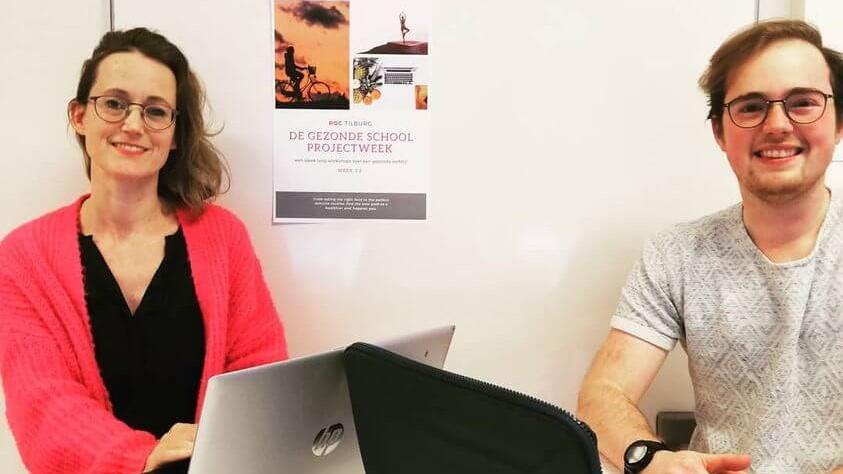 Femke Stoeldraijer en Cay Hoefmans organiseerden een online themaweek op ROC Tilburgop