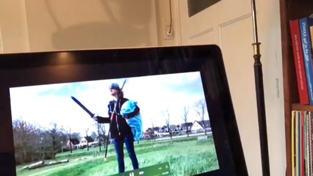 Een beeldscherm van een laptop.