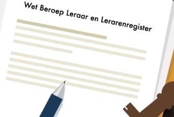 Een plaatje van de Wet beroep leraar
