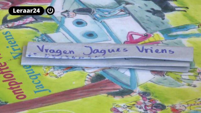 Kinderboek van Jacques Vriens met een lijstje met vragen