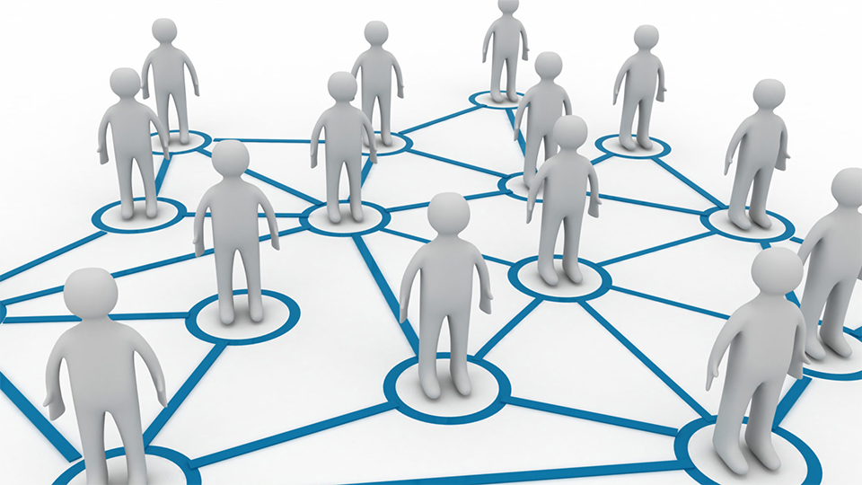 Figuren in een getekend netwerk